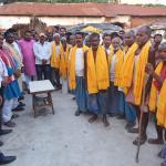 भाजपा ने अनुसूचित जाति समुदाय के बुजुर्गो को किया सम्मानित